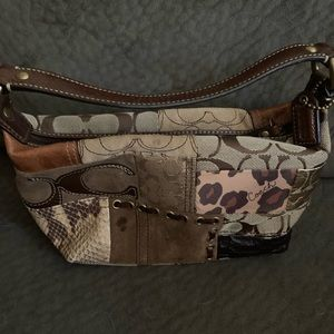 Adorable coach patchwork bag